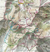 walking map of Auvergne guided walking holidays